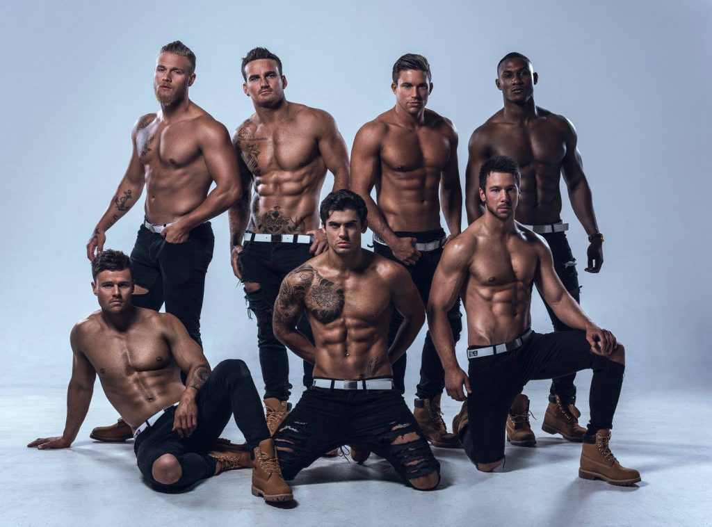hottest male strippers group shot