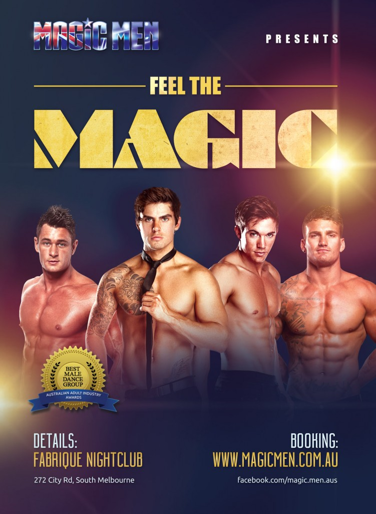 magic men menxclusive strip show poster
