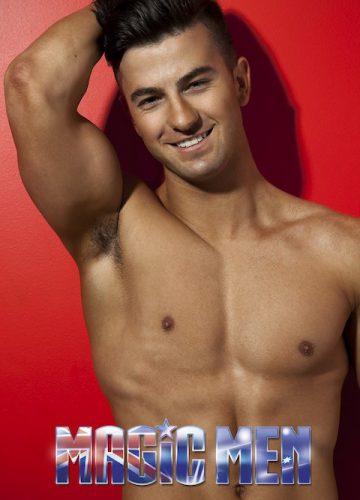 Cheeky topless waiter Josh