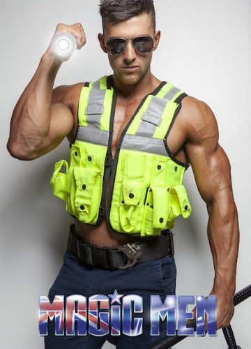 Nathan in police costume