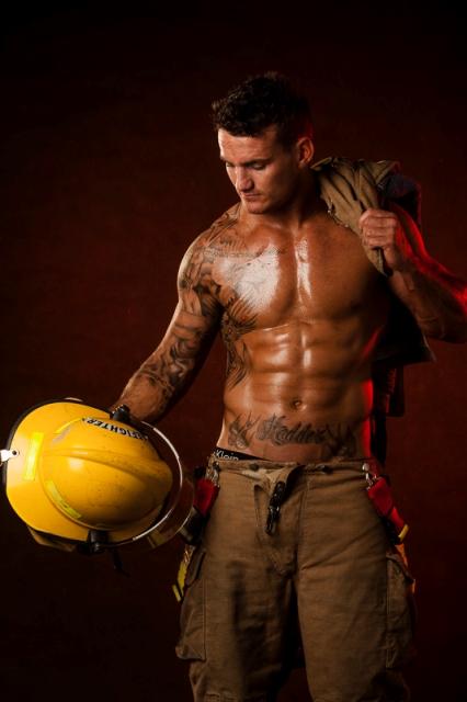 fireman stripper at a hens night